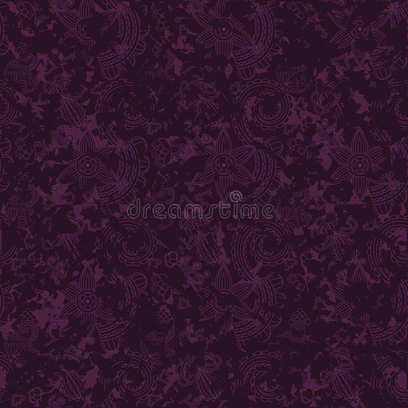 Seamless blom- wallpaper royaltyfri illustrationer