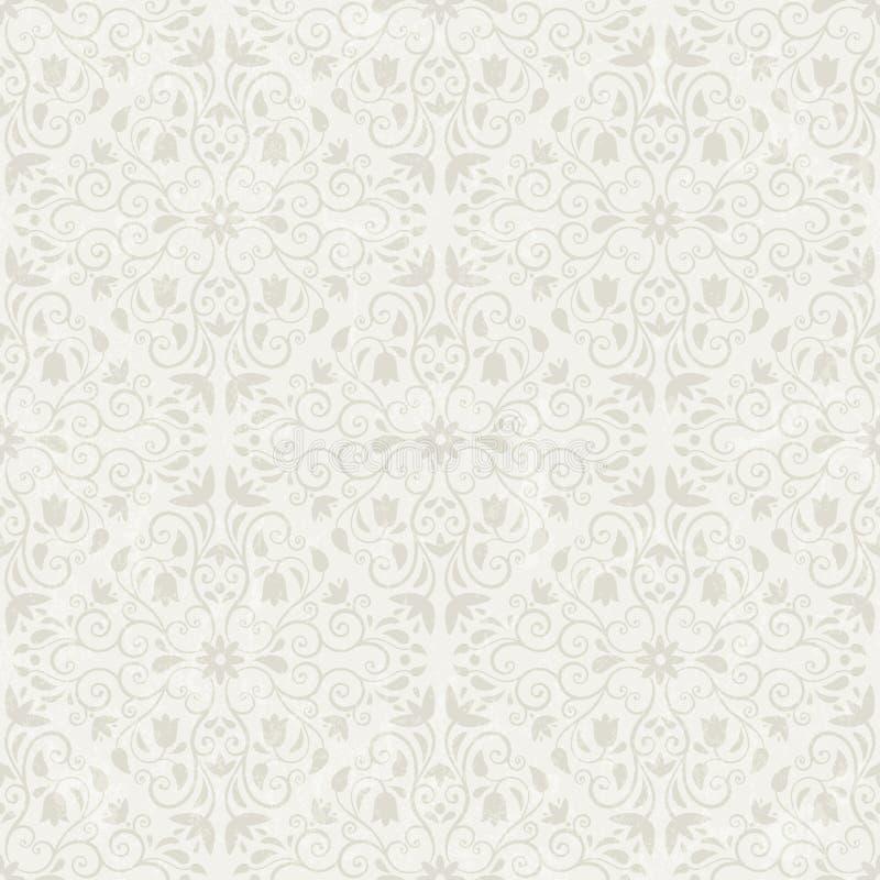 Seamless blom- wallpaper stock illustrationer