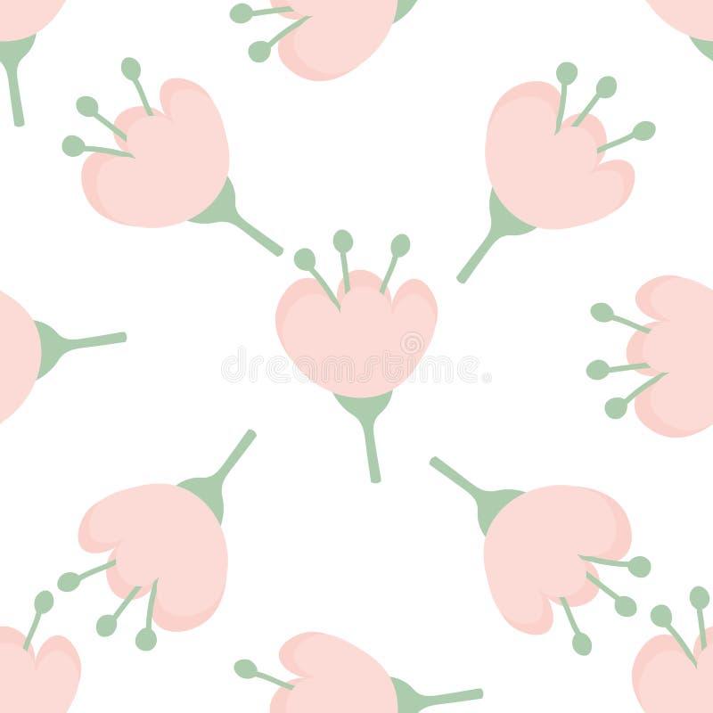 seamless blommamodell stock illustrationer