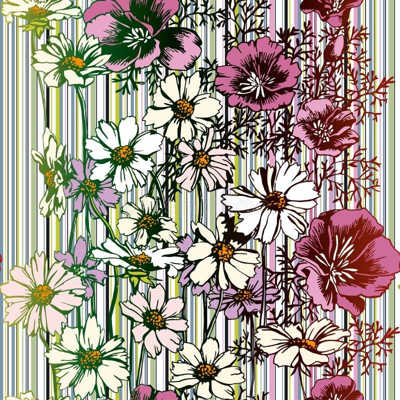 seamless blommamodell vektor illustrationer
