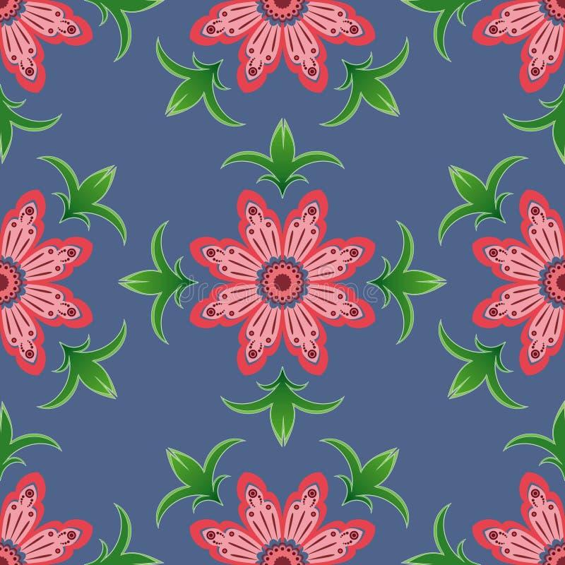 seamless blommamodellpink royaltyfria foton