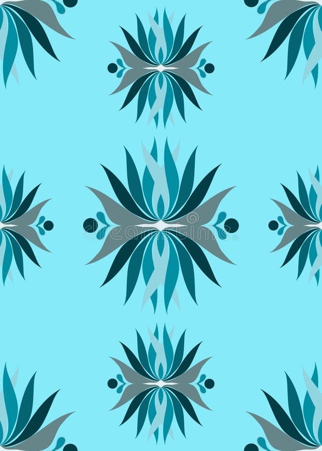 Download Seamless Blue Abstract Flowers Stock Illustration - Image: 13848517