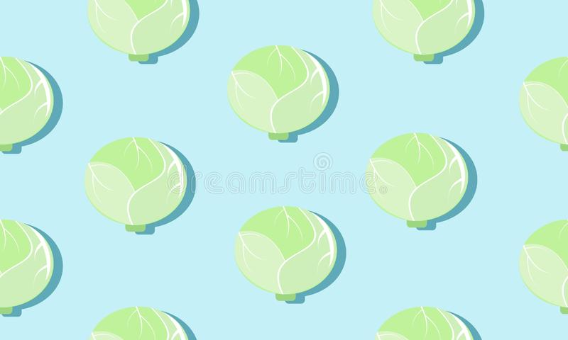 Seamless blue background with cherubs with shadow.Seamless blue background with cabbage heads with shadow. vector illustration