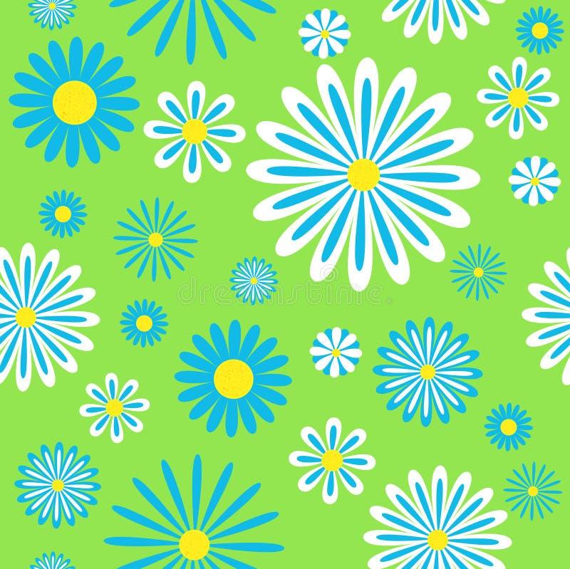 Download Seamless Blue Chamomiles Pattern Stock Vector - Illustration of group, season: 13035988