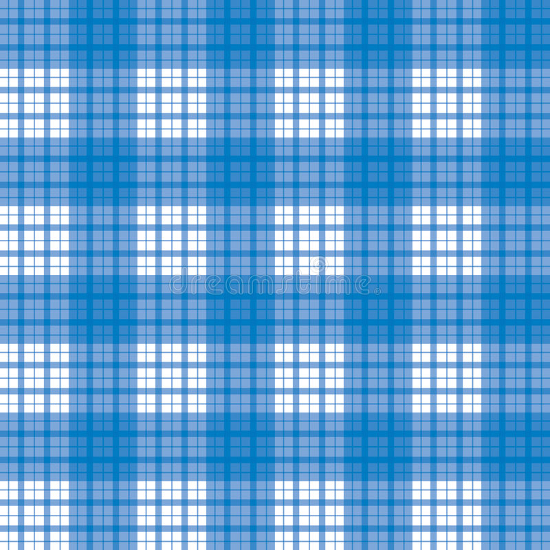 Seamless blue checked pattern royalty free illustration