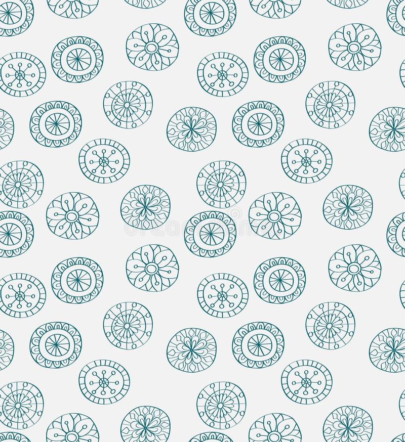 Download Seamless Blue Christmas Snowflake Background Stock Illustration - Image: 26893930