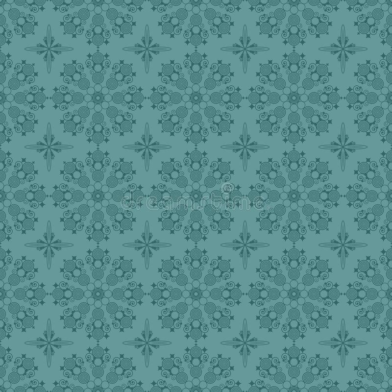 Seamless blue circle pattern vector illustration
