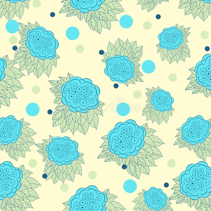Seamless blue floral pattern. Seamless repeating floral pattern for wallpaper, textile print stationary, vector illustration vector illustration