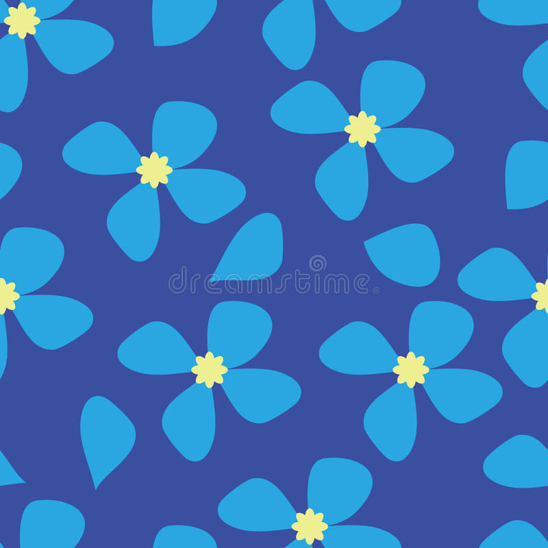 Seamless Blue Flower Pattern Background Royalty Free Stock Image