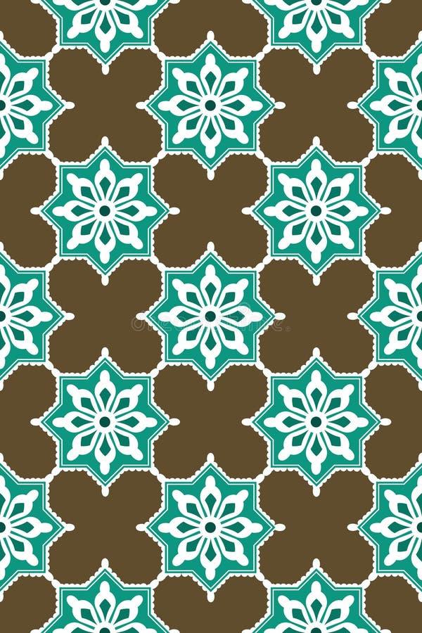 Seamless blue harmony pattern royalty free stock photography