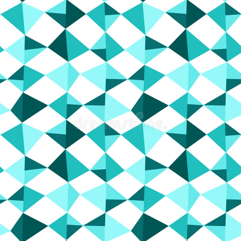 Seamless Blue Kite Squares Triangles. Blue kites flying. Seamless tiles pattern background vector illustration