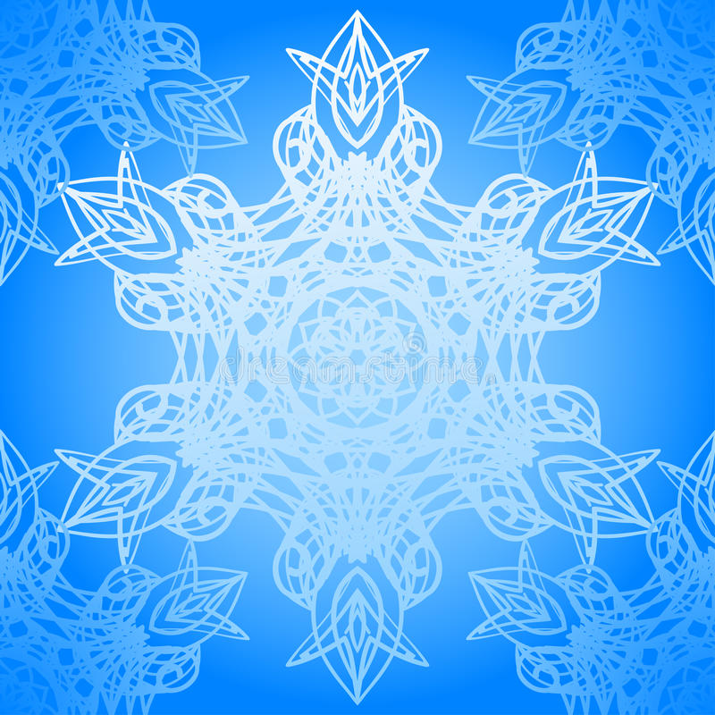 Download Seamless Blue Pattern With Elegance Snowflakes Stock Vector - Illustration: 28656189