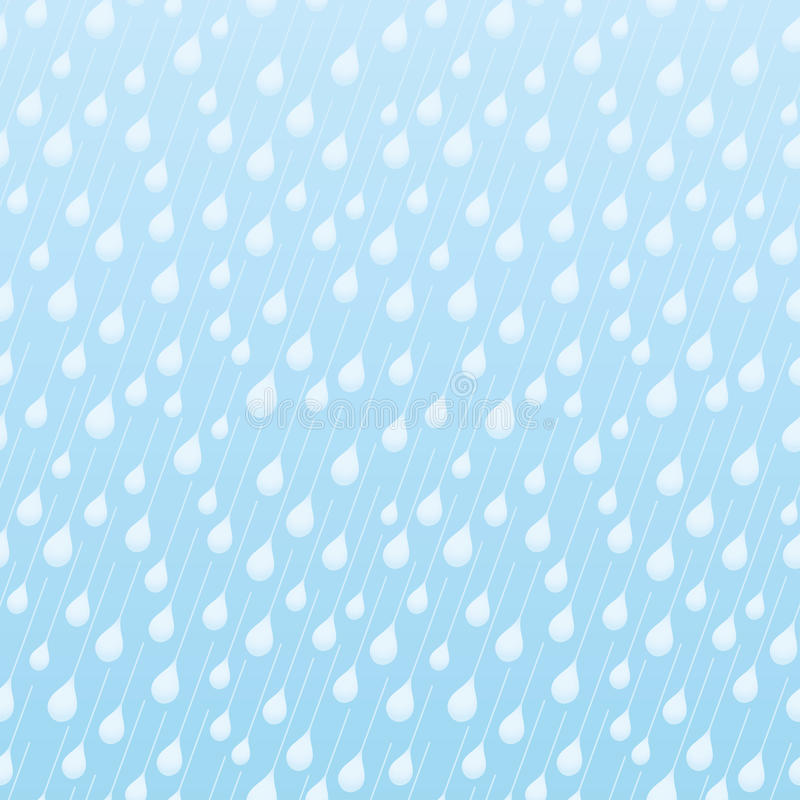Seamless blue pattern with raindrops. vector illustration