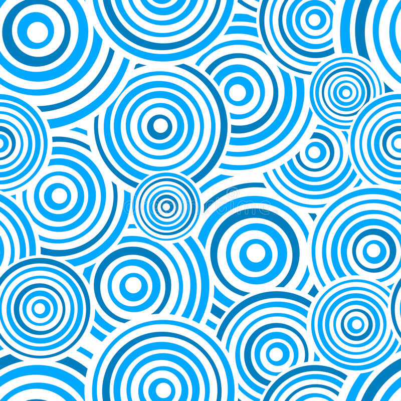 Free Seamless Blue Rings Pattern Stock Photos - 8745163