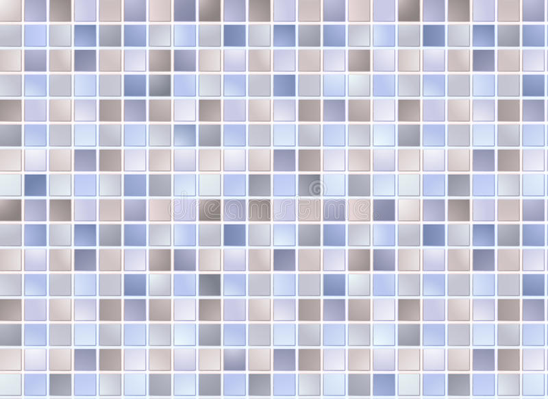 Download Seamless blue square tiles stock vector. Image of ornamental - 17982869
