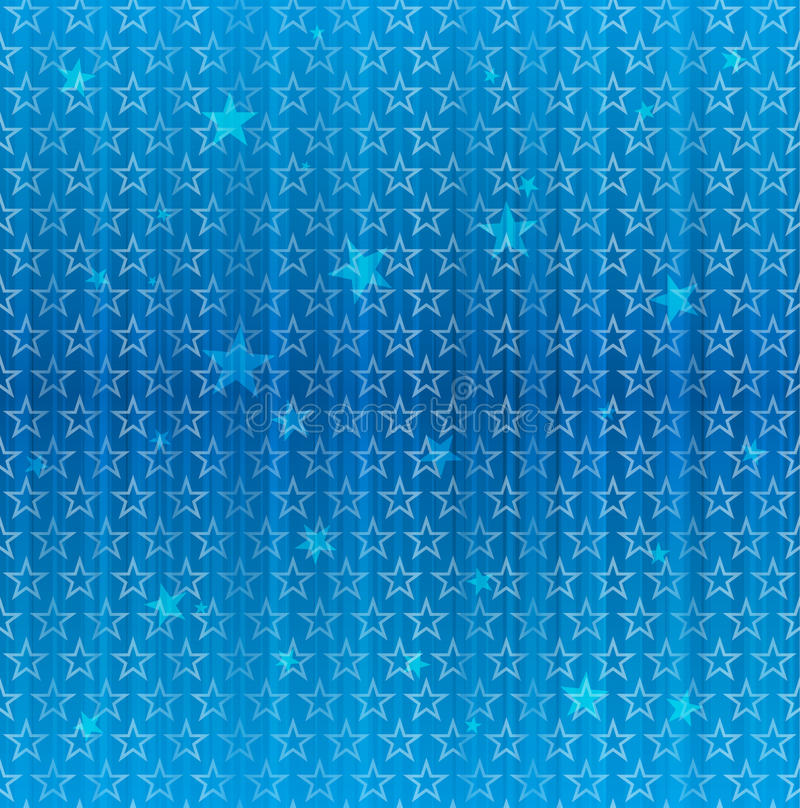 Seamless Blue Star Pattern