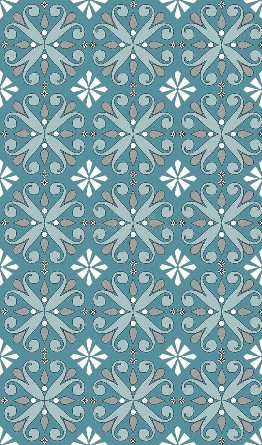 Seamless blue white pattern stock illustration