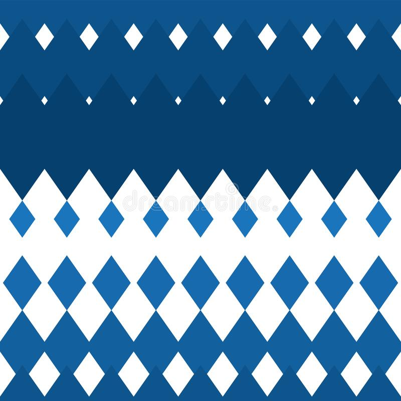 Seamless blue-white rhombus background vertical. Texture backgrounds for fabric printing paper. Vector image royalty free illustration