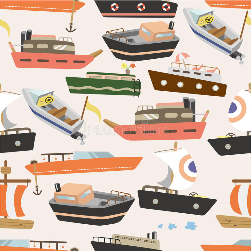 Download Seamless boat pattern stock vector. Illustration of adorable - 17934845