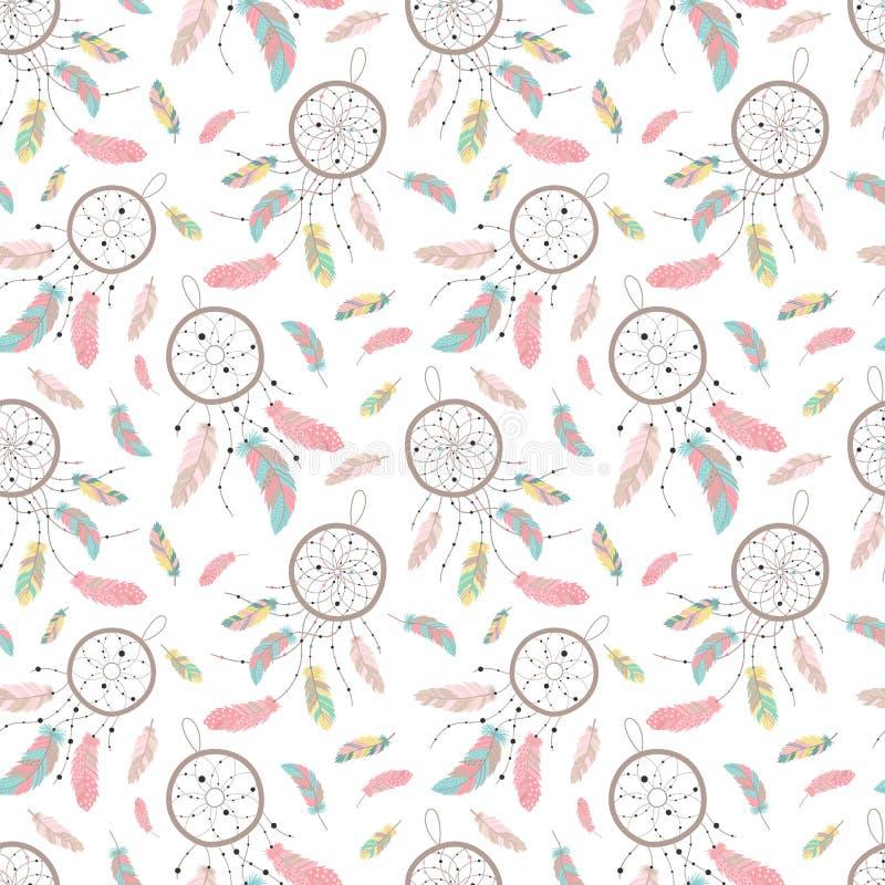 Seamless boho pattern. Vector image on national American motifs. royalty free illustration