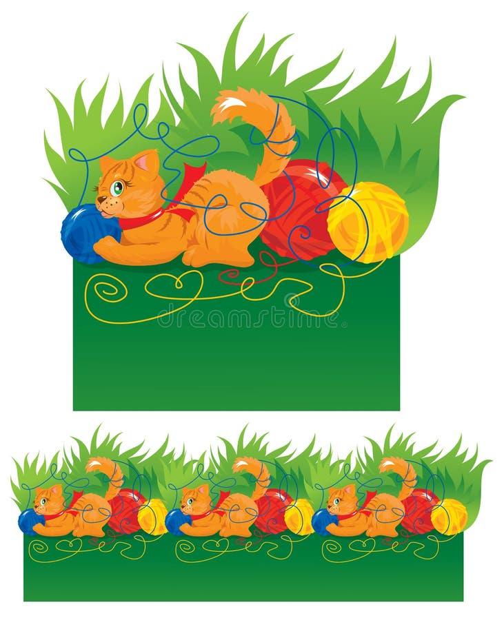 Seamless border for children royalty free illustration