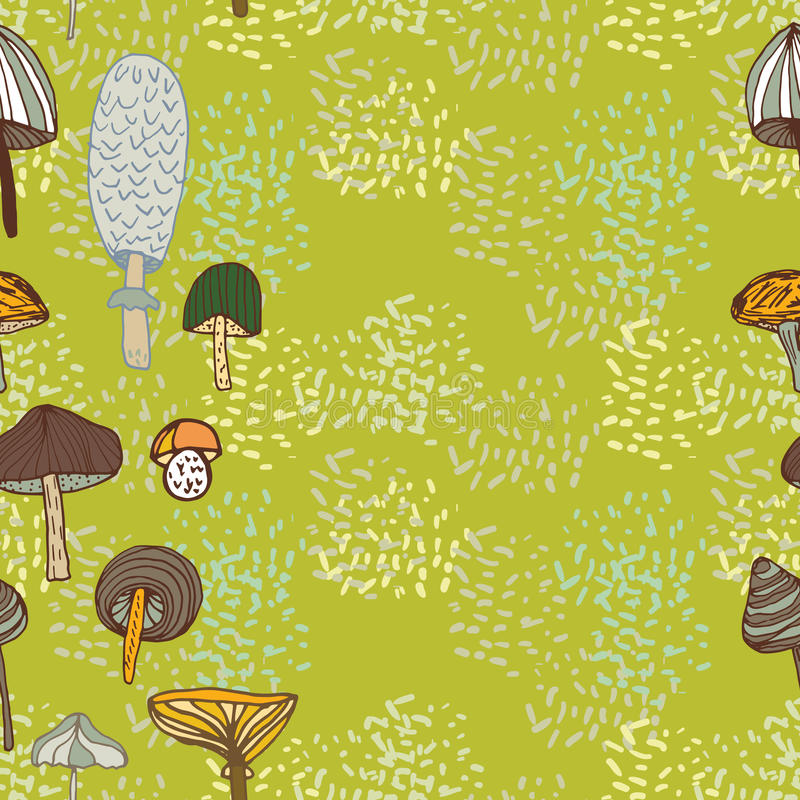 Seamless border of different mushrooms. Seamless border of different mushrooms vector illustration