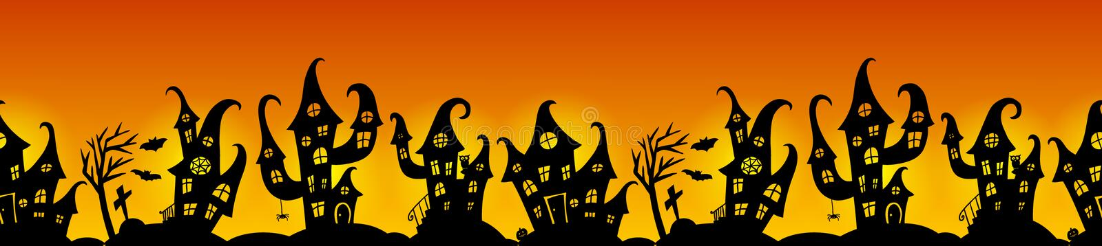 Seamless border for Halloween party royalty free illustration