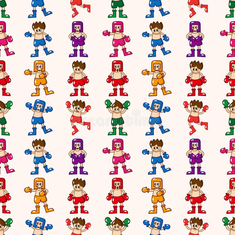 Seamless Boxer Pattern Stock Photo
