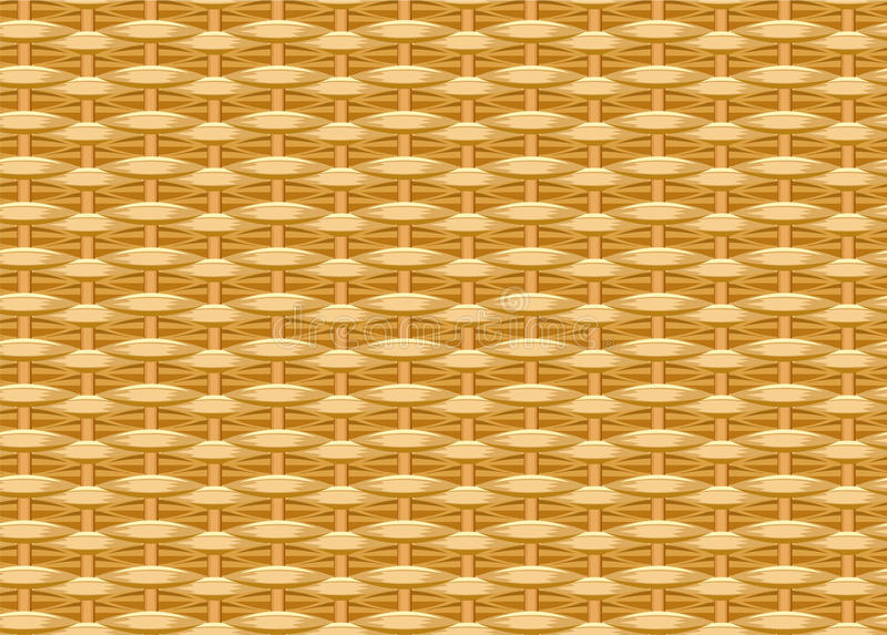 Seamless braided background. Wicker straw. Woven willow twigs. Wicker texture royalty free illustration