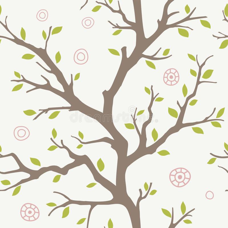Seamless branches pattern royalty free illustration