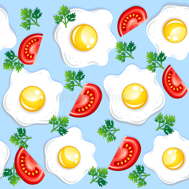 Download Seamless breakfast pattern stock vector. Image of background - 24315388