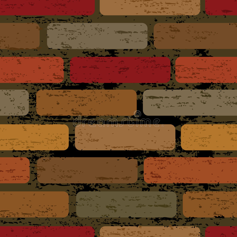 Seamless brick wall. Seamless tiling print patterns of decoration brick wall style. Created especially to look at their best when tiled stock illustration