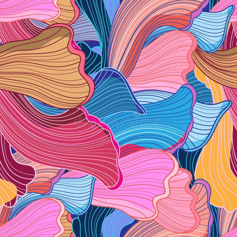 Seamless bright abstract wavy pattern vector illustration