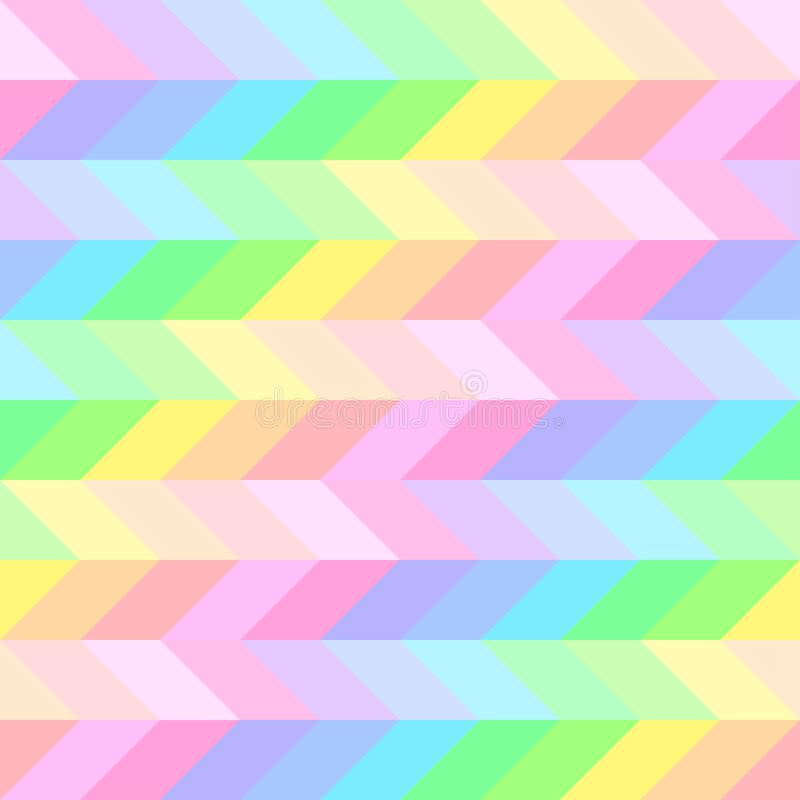 Seamless bright cute pattern of iridescent diagonal and horizontal stripes of equal thickness for girls or children royalty free illustration