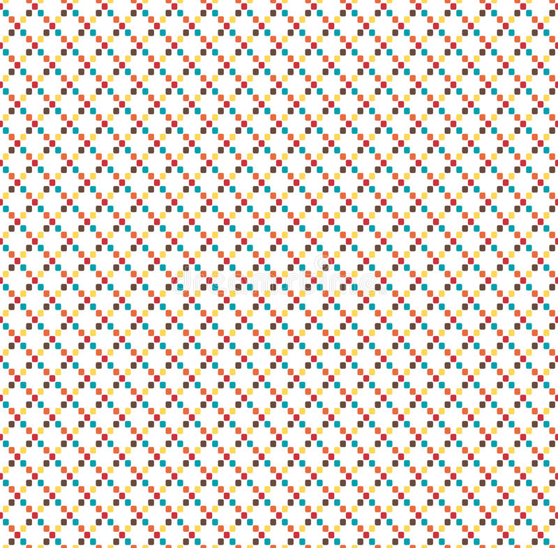 Seamless bright fun abstract geometric pattern isolated on white royalty free illustration