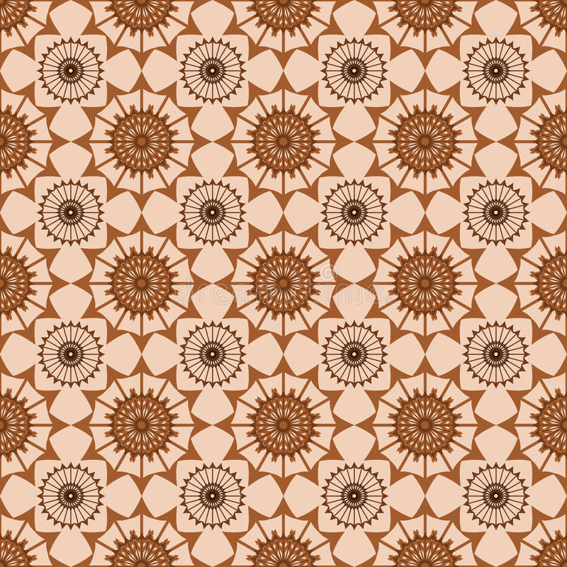 Seamless brown abstract pattern on beige background vector illustration