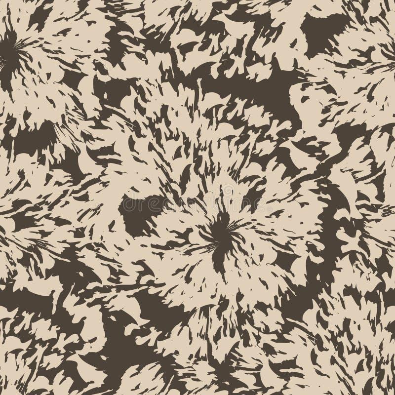 Seamless brown blots splatter pattern. Wood rings. Torn texture. vector illustration