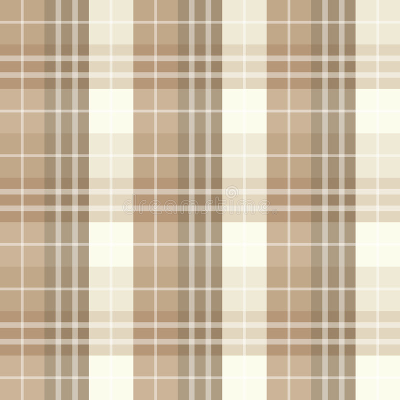 Seamless brown checked pattern vector illustration