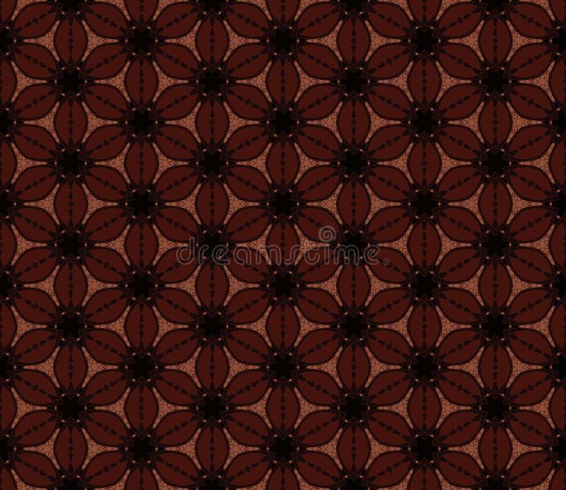 seamless brun blom- modell Vektorbakgrund, textur av kaffebönor vektor illustrationer