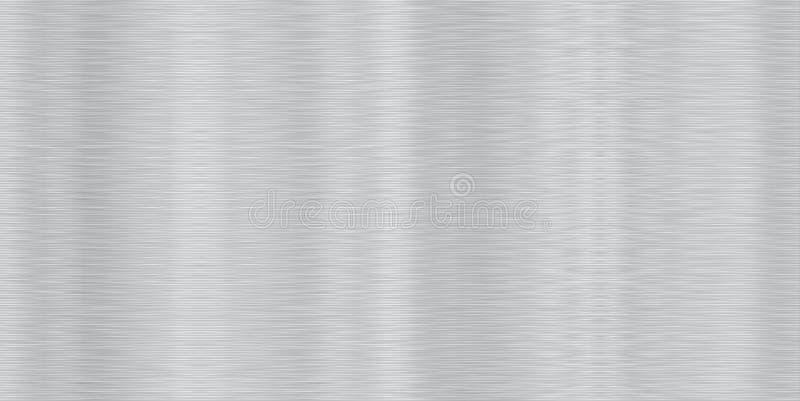 Seamless Brushed Aluminum Stock Vector. Image Of Metal