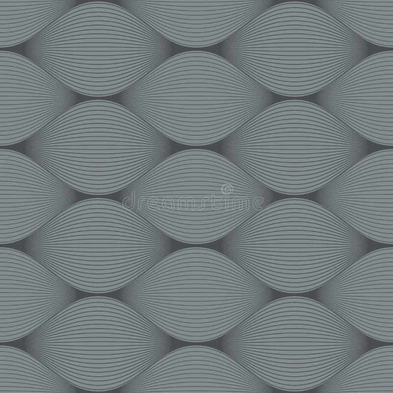 Seamless bulge illusion pattern. Seamless grey bulge illusion pattern vector illustration