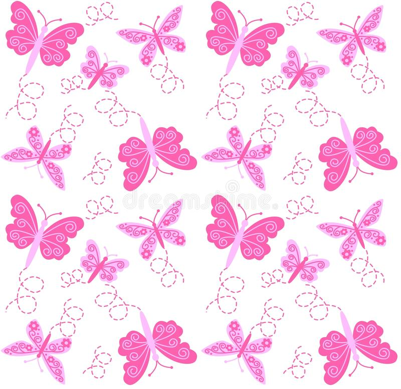 Download Seamless butterfly pattern stock vector. Image of garden - 17377190