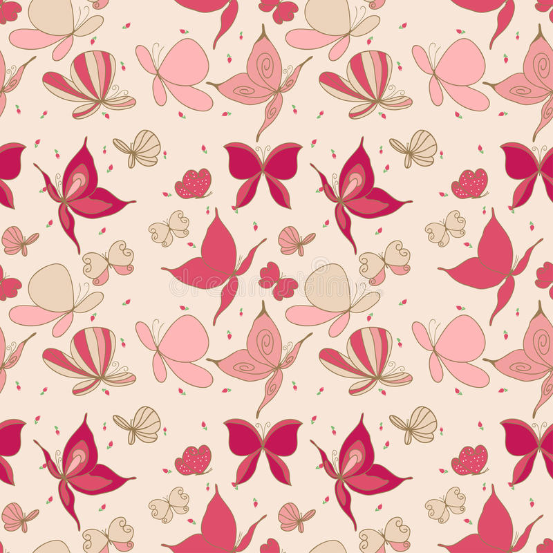 Download Seamless butterfly pattern stock vector. Image of effect - 27834747