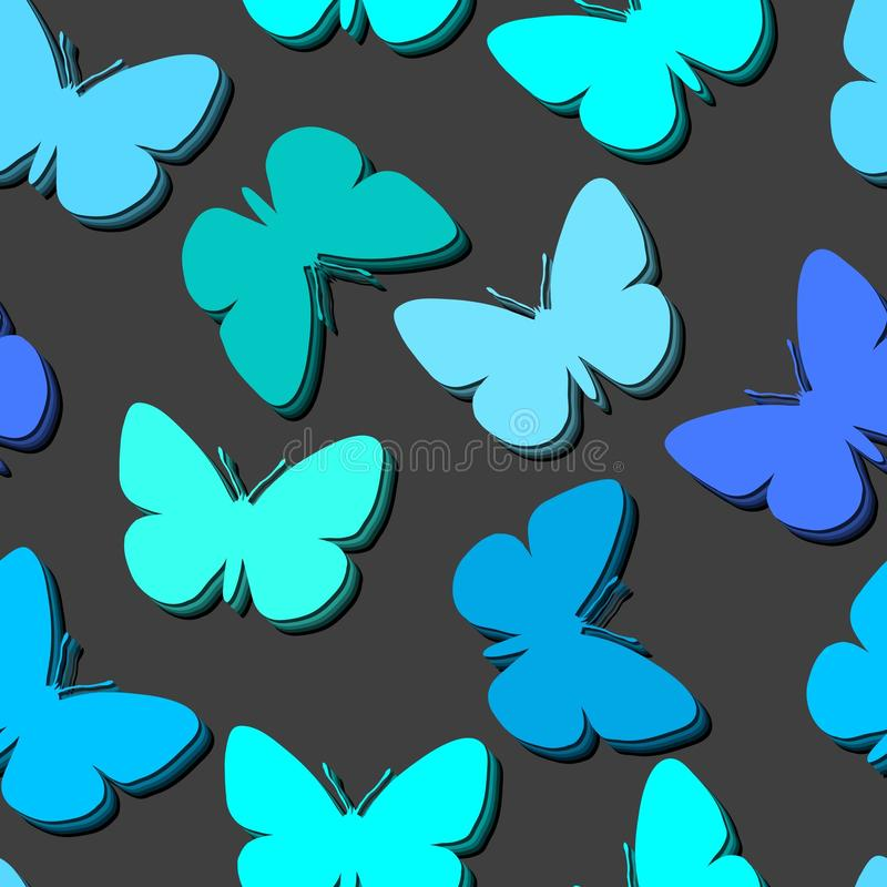 Seamless butterfly pattern. Seamless vector wallpaper with butterflies royalty free illustration