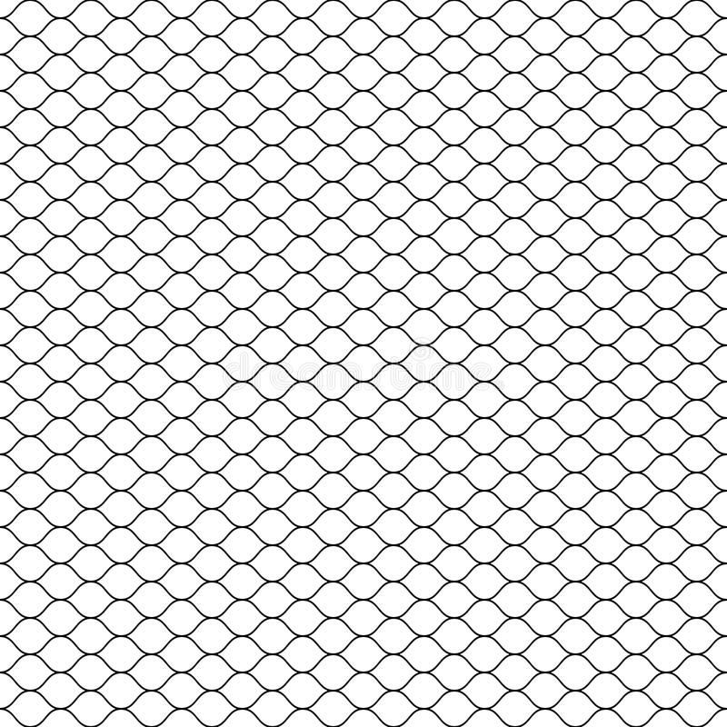 Seamless Cage. Grill. Mesh. Octagon Background stock illustration