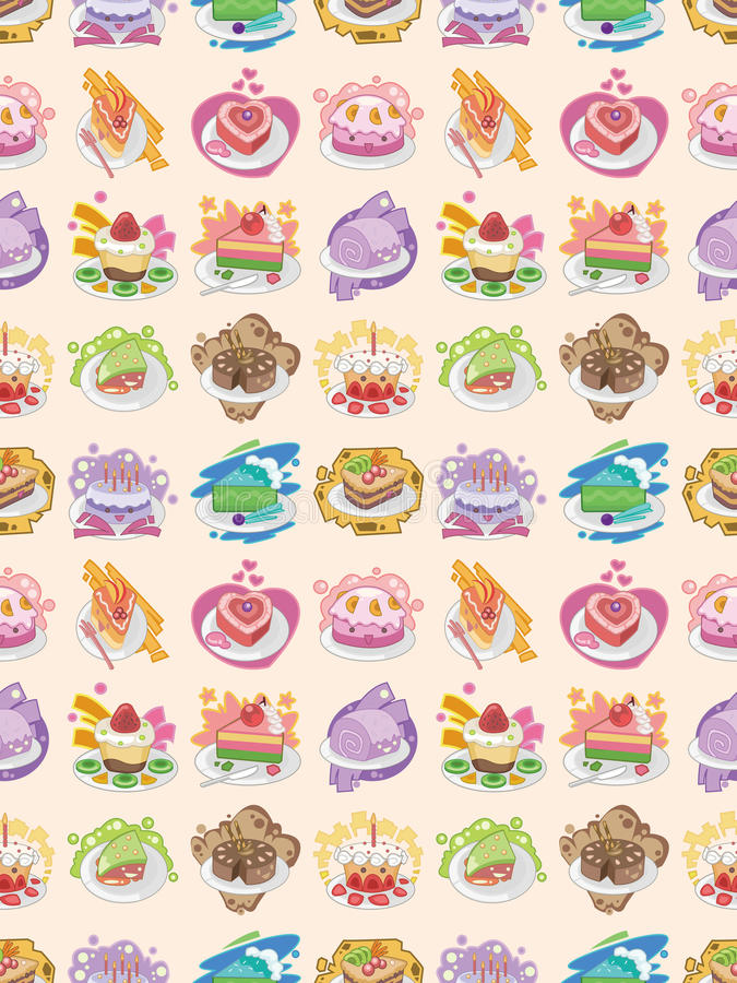 Download Seamless cake pattern stock vector. Image of bake, chocolate - 28102341