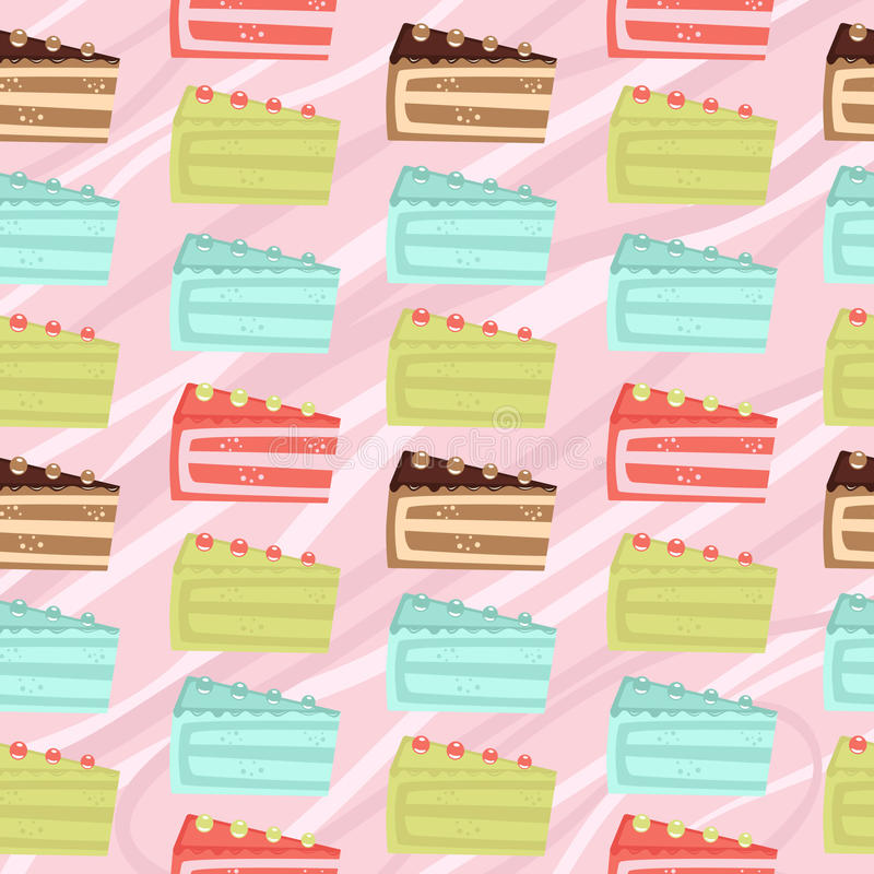 Seamless cake slices background