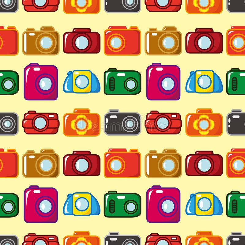 Download Seamless camera pattern stock vector. Image of element - 27813512