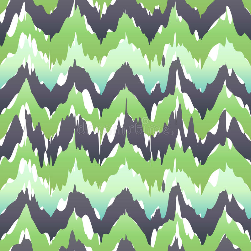 Seamless Camouflage Ogee in Ikat Weave Background Pattern vector royalty free illustration