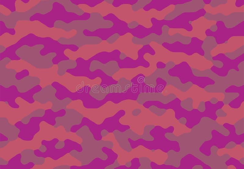 Seamless camouflage pattern fancy purple stock photo